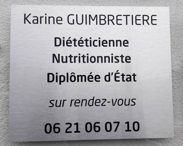 Diététique-plaque-Karine_Guimbretiere_GETIGNE